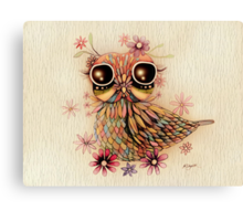 little flower owl Canvas Print