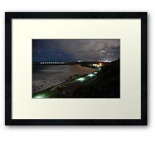 Duranbah Beach at Night Framed Print