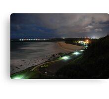 Duranbah Beach at Night Canvas Print