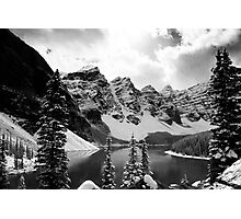Moraine Lake (Black & White) Photographic Print