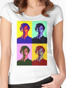 Warhol's Sherlock/Benedict Cumberbatch  Women's Fitted Scoop T-Shirt