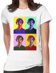 Warhol's Sherlock/Benedict Cumberbatch  Womens Fitted T-Shirt