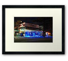 Cafe D Bar at Night Framed Print