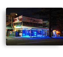 Cafe D Bar at Night Canvas Print