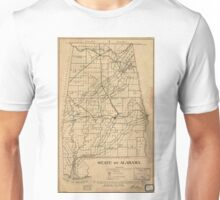 Vintage Map of Alabama (1866) Unisex T-Shirt