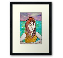 Young Girl Portrait Tamara Framed Print