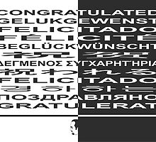 Congratulated! in many languages by AnnoNiem Anno1973