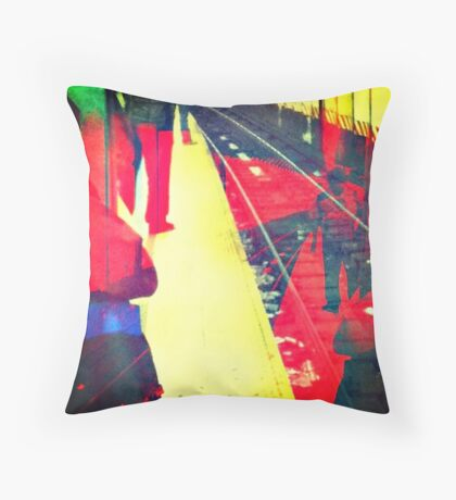 union square station Throw Pillow
