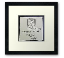 Cereal Framed Print