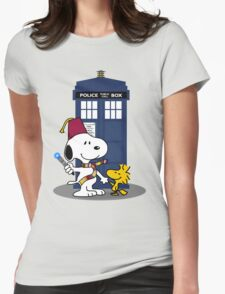 Snoopy Who. Womens Fitted T-Shirt
