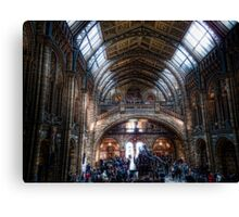 Crowds at the NHM Canvas Print