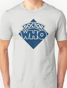 Doctor Who Diamond Logo Flat Blue. T-Shirt