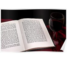 A Good Book and a Glass of Wine Poster