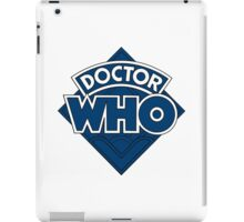 Doctor Who Diamond Logo Flat Blue. iPad Case/Skin
