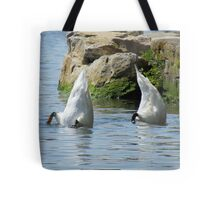Practising for the Olympics Tote Bag