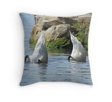 Practising for the Olympics Throw Pillow