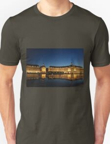 Bordeaux water pavement at night Unisex T-Shirt