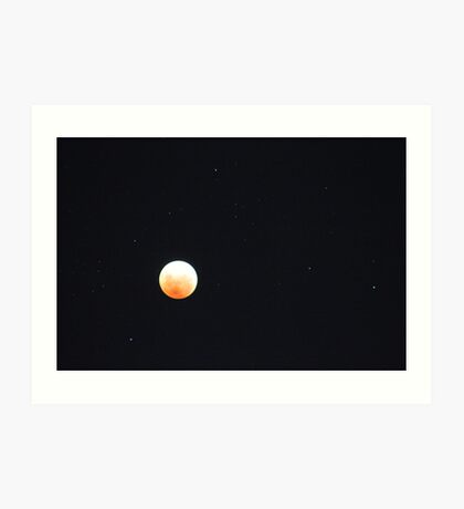 Lunar Eclipse, Perth Australia 10 December 2011 Art Print
