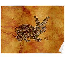 Knotwork Rabbit Natural Poster
