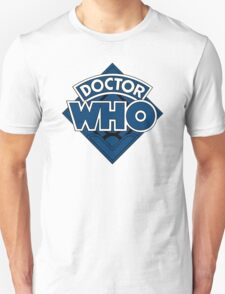 Doctor Who Diamond Logo Blue Black Bars T-Shirt