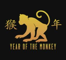 Year of The Monkey Chinese Zodiac Monkey Symbol Kids Tee