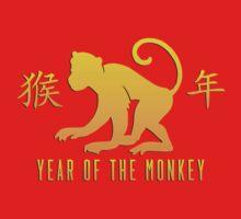 Year of The Monkey Chinese Zodiac Monkey Symbol Kids Tee