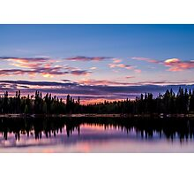 Sunset on Northern Lake Photographic Print