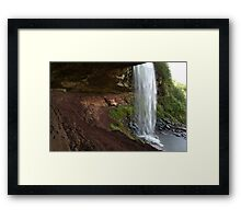 Waterfalls at summer time in Catskills, NY  Framed Print