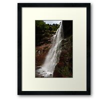 Lower Catskills waterfalls view Framed Print