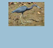 Little Blue Heron on the Beach Womens Fitted T-Shirt