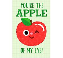 The Apple of My Eye red version Photographic Print