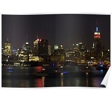 Manhattan Skyline Over the Hudson River Poster