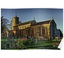 St Mary Long Stratton Late Light Poster