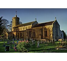 St Mary Long Stratton Late Light Photographic Print