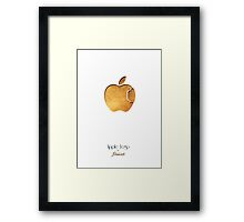 Apple Lego Framed Print