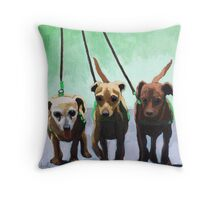 Family of Chihuahuas - animal art Throw Pillow