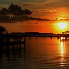 Tropical sunset at Key Largo, FL by Anton Oparin