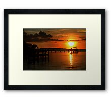 Tropical sunset at Key Largo, FL Framed Print