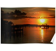 Tropical sunset at Key Largo, FL Poster