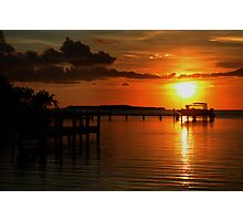Tropical sunset at Key Largo, FL Photographic Print