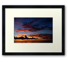 Beautiful sunset at tropical island Framed Print