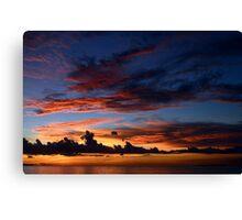 Beautiful sunset at tropical island Canvas Print