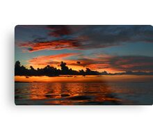 Beautiful sunset at tropical island Key Largo, FL Metal Print