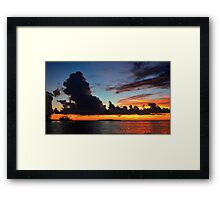 Beautiful sunset at tropical island Key Largo, FL Framed Print