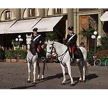 Carabinieri a cavallo in Firenze (Piazza Repubblica) Photographic Print