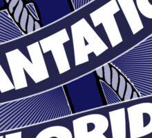 Plantation Florida anchor swirl Sticker
