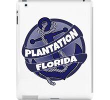 Plantation Florida anchor swirl iPad Case/Skin