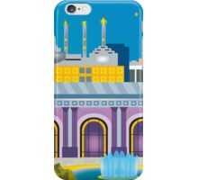 Kansas City, Missouri - Horizontal Retro Inspired Travel Art by Loose Petals iPhone Case/Skin