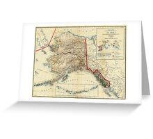 Vintage Map of Alaska (1906) Greeting Card