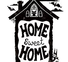 Home Sweet Home -with bats, cats and batcats by blacklilypie